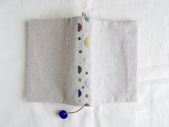 夏の手刺繍ブックカバーBの画像