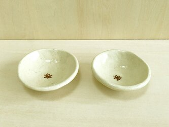 お花の豆皿 2枚セットの画像