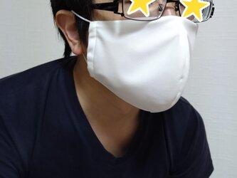 【即日発送可能】呼吸する快適夏マスク(男性用ホワイト)の画像