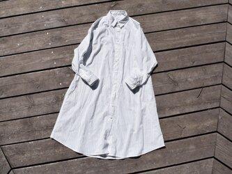 柔らかふんわりコットン 播州織 シャツワンピース  shirt onepiece bansyuoriの画像