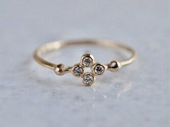 K18 Stardust 4 stones ring [R079K18YG]の画像