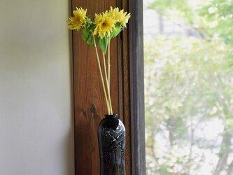 黒銀箔流線花瓶の画像