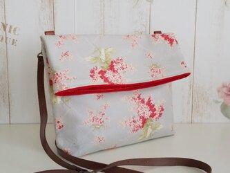moda 赤小花柄 ショルダーバッグの画像