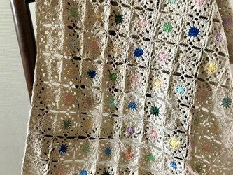 かぎ針編みのブランケットの画像