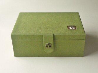【K様オーダー品】リネン裁縫箱 「キャットスマイル」の画像