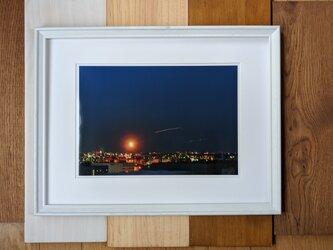 風景写真 A4 飛行機の軌跡の画像