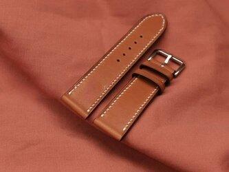 『高級革使用』フランス産ヌメレザー 時計ベルト ブラウン レザー 腕時計 革ベルト 皮 革の画像