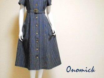 着物シャツドレス(ベルト付き) Kimono Shirt dress LO-234/Mの画像