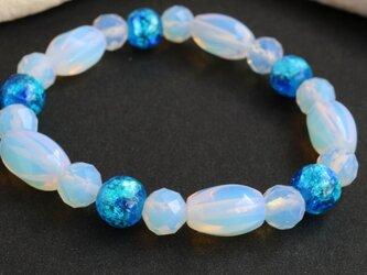 Blue × Milky ブレスレット 2の画像