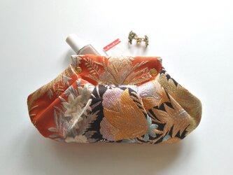 小物入れ、ミニクラッチに  アンティーク 西陣織 着物帯リメイクの画像