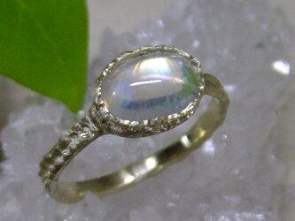rainbow moon*K10 lace ringの画像
