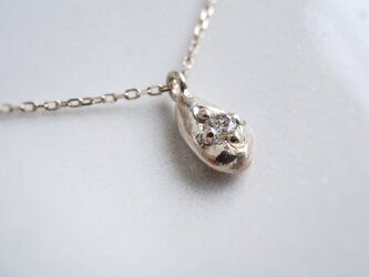 ダイヤしずくネックレス K10 YellowGold 10金イエローゴールド ダイヤモンド 天然石の画像