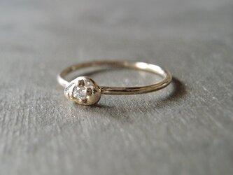 ダイヤモンドリング しずく K10 イエローゴールド 10金 ダイヤ 指輪 K10YG 天然石の画像