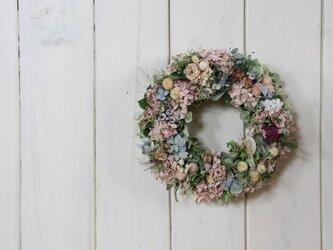 【A様ご注文品】紫陽花と小花のリースの画像