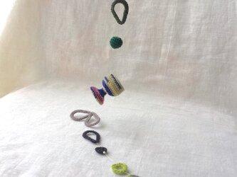 knit glass  ガーランド ・モスグリーン・ブラックの画像