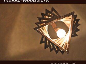 木製 ペンダントライト アンティーク照明/ペンダントライト/木製照明/間接照明/6連の画像