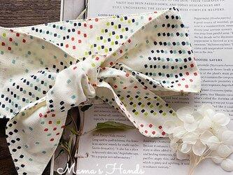 保冷剤 カラフル ミニ ドット 綿100% 節約 快適 エコ 夏 スカーフ ネッククーラーの画像