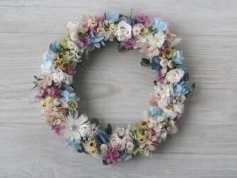 pastel colour wreath blue (L)の画像