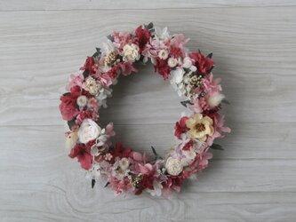 Pink raspberry wreathの画像