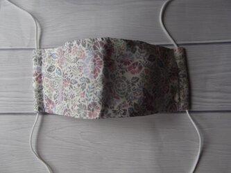 再販:リバティ花柄の舟型マスクの画像
