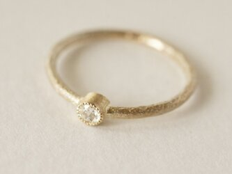 K18 Diamond one stone ring [R050K18DM]の画像