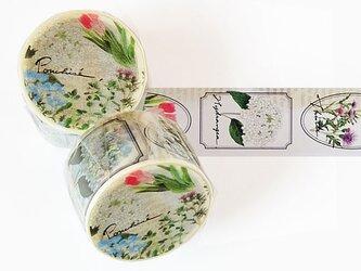 花のマスキングテープの画像