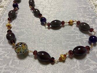 アニマルベネチアンガラスのネックレスの画像