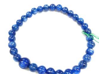 6mm カイヤナイト 藍晶石 腕輪 ブレスレット 数珠 京都 UDA126の画像