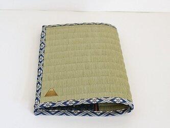 四方縁 畳ブックカバー富士山~業平菱縁~文庫サイズの画像