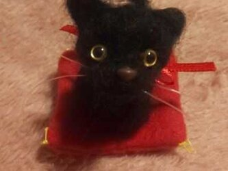 羊毛フェルトハンドメイド黒猫ちゃんの画像