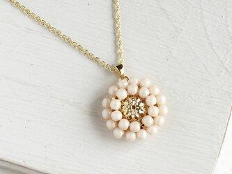 アンティークレトロ♪お花のネックレスの画像
