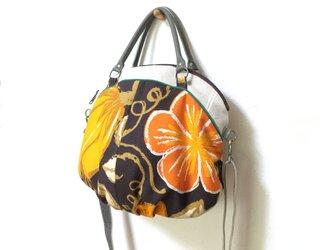 2wayショルダーバッグ 斜め掛け ヴィンテージオレンジ花の画像
