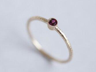 K18 Garnet birthstone ring [R050K18RG]の画像