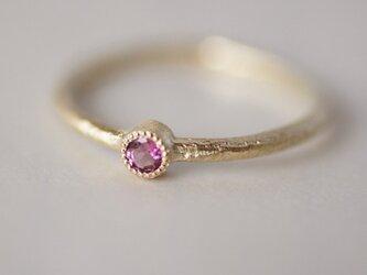 K18 Pink tourmaline birthstone ring [R050K18PT]の画像