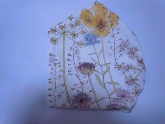 リバティリネンイルマイエロー立体マスク涼感加工の画像