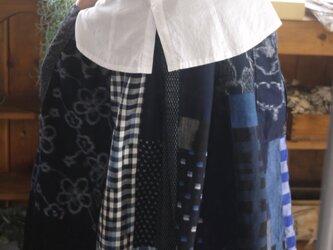 久留米絣反物からギャザースカートの画像