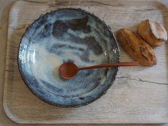 鬼土のリム八寸皿 No.713の画像