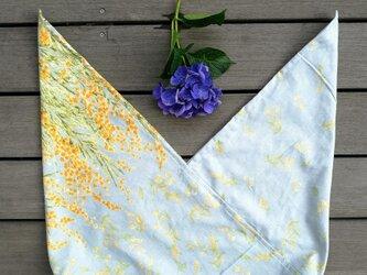★あずま袋(中) 5009 東袋★ ミモザ水色 綿麻 リネンの画像