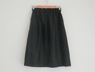 ギャザースカート blackの画像
