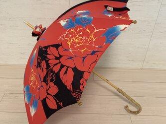 浴衣地日傘 Roseの画像