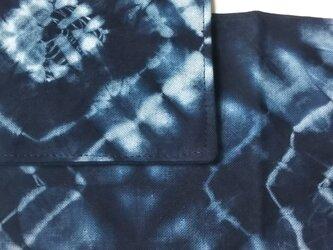 藍染 手絞り 布巾&急須敷の画像