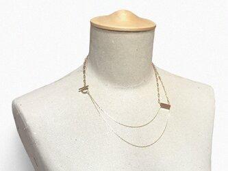 メタルの二連ネックレスの画像