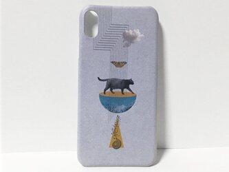 iphone【黒猫コラージュ】スマホケースの画像