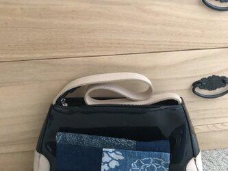 ヴィンテージ藍型染め 小物入れ の画像
