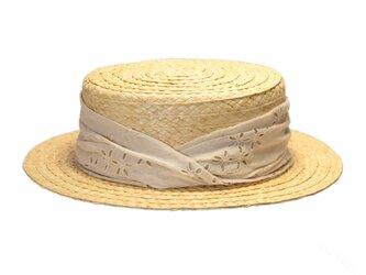 綿レース巻きモコラカンカン帽(20SSN-010R)の画像