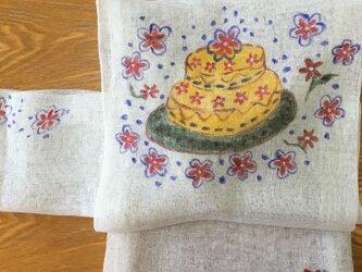 お花のケーキ名古屋帯の画像