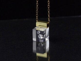 キュービックジルコニアのプチネックレス14kgf(無料ギフトラッピング, 誕生日プレゼント, メッセージカード)の画像