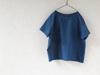 潔いシャツ・変わり織り木綿の本藍染めの画像