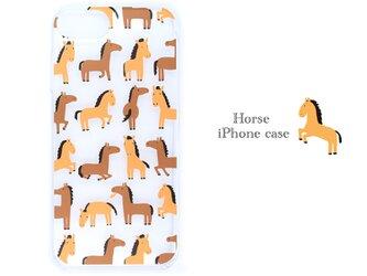 馬の日常のかわいいしぐさ iphone/スマホケース ブランド/リトルアニマル キャラクター/グッズ 携帯 IPHONEの画像