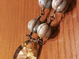 ☆超大粒・宝石質☆ビアクオーツのネックレス2の画像